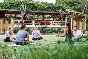 Yoga exercise at Vikara Retreats