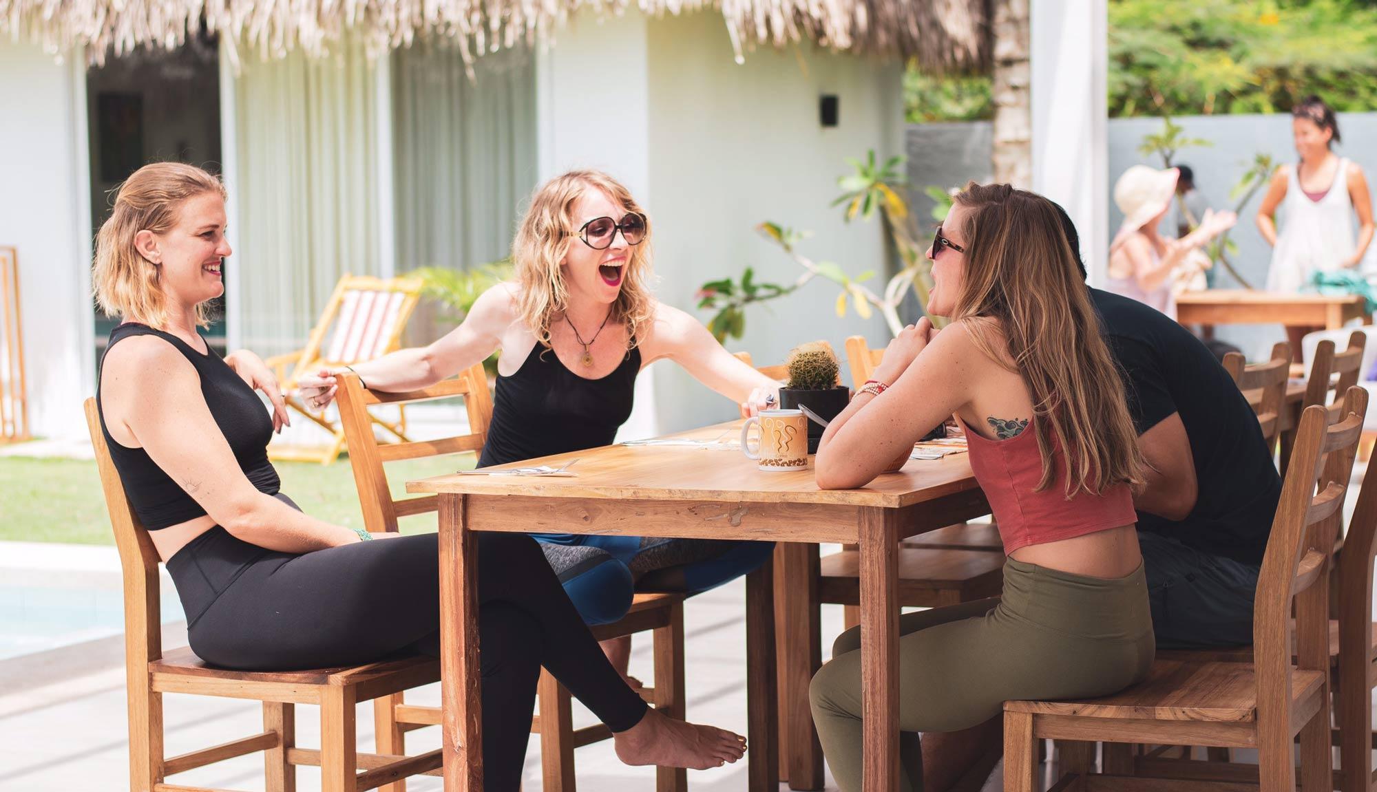 Vikara olon Ecuador pool yoga and surf retreats