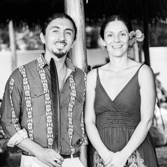Fe and Matias are the part of the tribe at Vikara Retreats