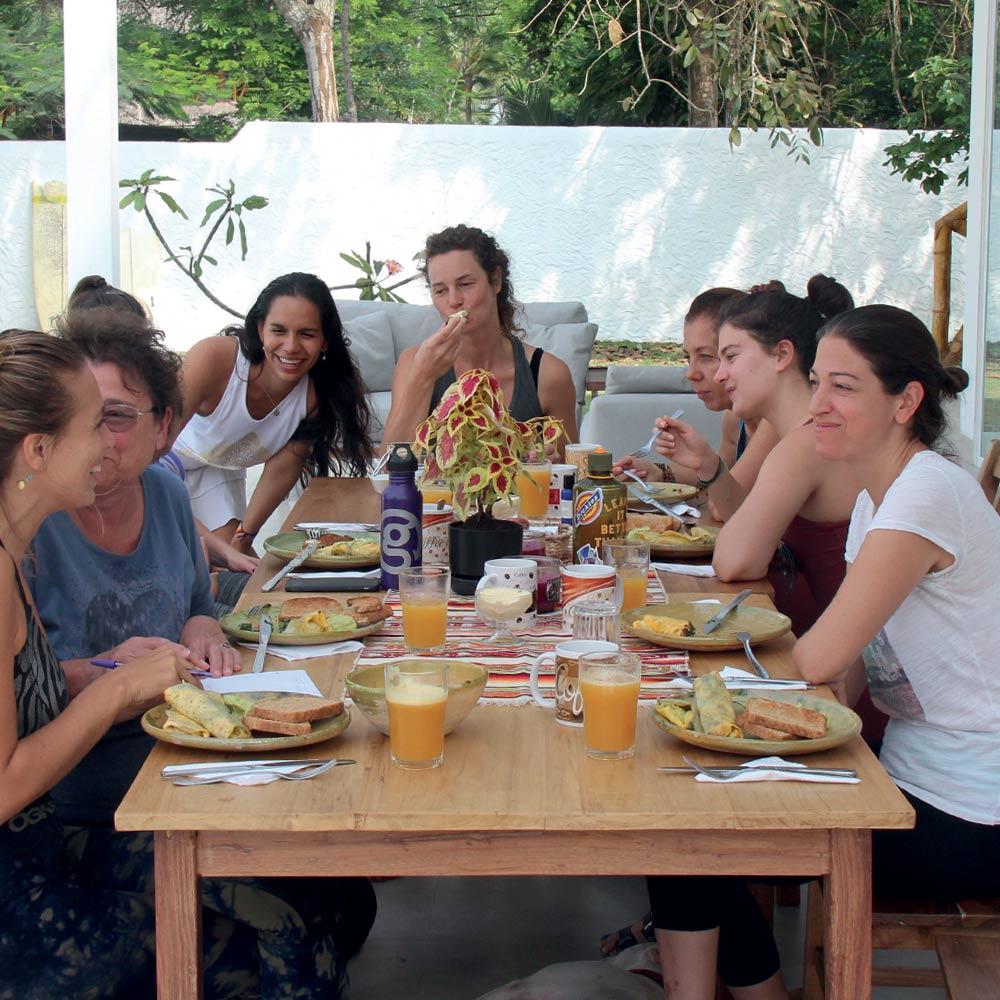 Vikara's chef cooking healthy food for retreats