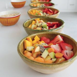 Healthy food prepared by chef at Vikara